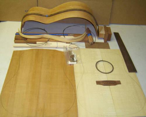 PARLOR GUITAR DIY CUSTOM GUITAR KIT MAHOGANY BODY and TOP....ALL SOLID WOOD