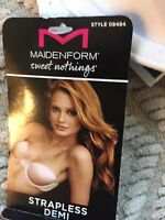 Maidenform Sweet Nothings Strapless Demi Bra Size 34c White Color,
