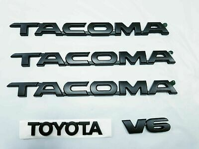 TOYOTA TACOMA EMBLEMS 5 PCS SET//  DOORS AND TAILGATE CHROME ABS DECALS NEW