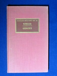 Details About Gedichte Poetry By Friedrich Von Schiller 1960 Soft Cover German Poems