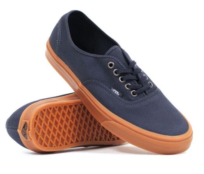ba270614188e4f VANS Mens 4 Womens 5.5 Authentic Gumsole India Ink Blue Skate ...
