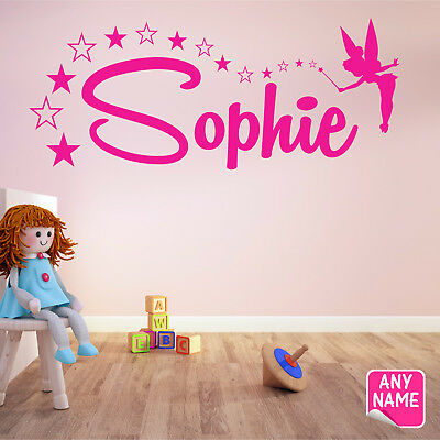 FAIRY Wall Sticker Personalised Name Girls Bedroom Vinyl Wall Art Decal F6 #2