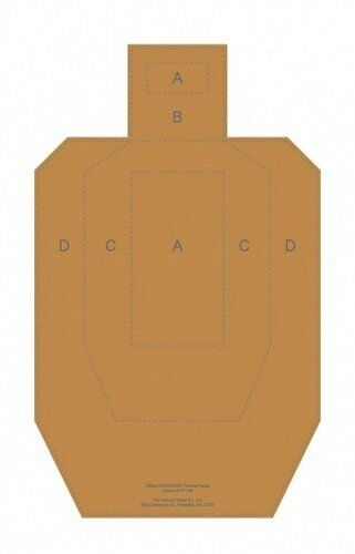 IPSC - Official Cardboard USPSA   IPSC Combat Target (bundle of 30), 18.5  x 30