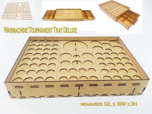 Warmachine Hordes Malifaux Tournament Tray Deluxe w// Metal Sheet