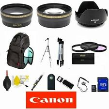 CANON EOS REBEL T3 T3I T5 T5I T6 T6I LENS WIDE ANGLE LENS 16GB SD LARGE BACKPACK