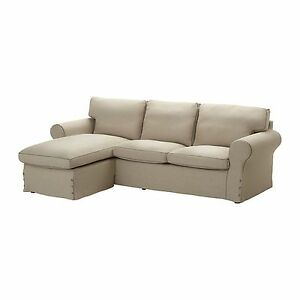 ikea ektorp slipcover 2 seat loveseat sofa w chaise cover risane