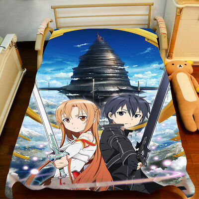 NEW Sword Art Online Sheet Bedspread Bed Cover Coverlet Quilt Cover Anime