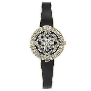 385e00a8a Badgley Mischka BA/1392GPCV Women's Swarovski Crystal Cover Watch ...