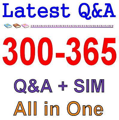 Cisco Best Practice Material For 300-365 Exam Q/&A PDF+SIM