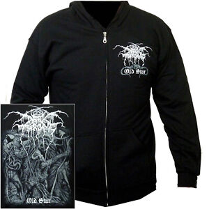 Darkthrone-Old-Star-Zip-Hoodie-M-L-XL-Official-Black-Metal-Hooded-Sweatshirt-New