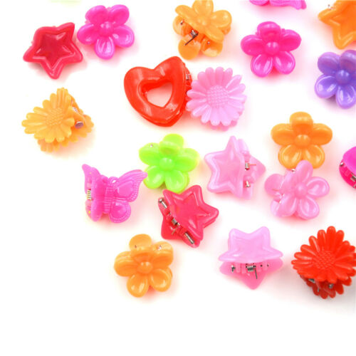 20X Cute Assorted Plastic Lovely Kids Girls Mini Hair Claw Clips Cl LD