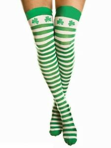 f2a269432 Over The Knee Green And White St Patricks Day Shamrock Leprechaun ...