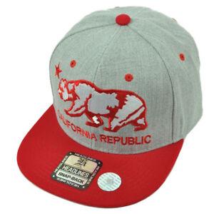 Hats Clothing, Shoes & Accessories Black California Republic Cal Flag Cali Bear Flat Bill Baseball Trucker Hat Cap