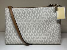 d36eb307c7c6 item 1 Michael Kors PVC Jet Set Travel Double Gusset Crossbody Bag VANILLA  ACORN - NWT -Michael Kors PVC Jet Set Travel Double Gusset Crossbody Bag ...
