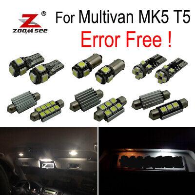 20x LED License plate Interior dome Lights Kit for VW Multivan MK5 T5 03-15