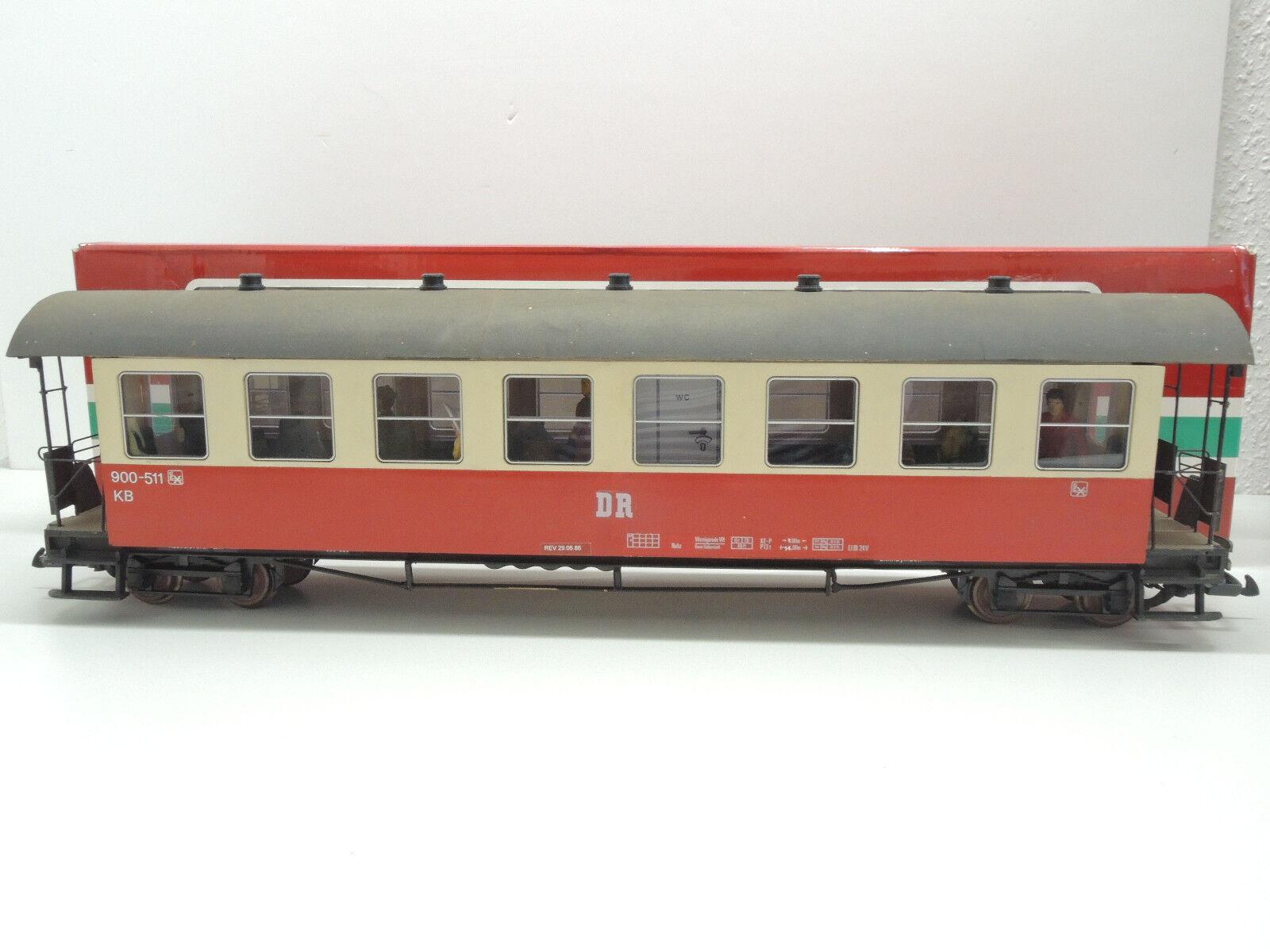 LGB Spur G MAGNUS-HÖHNE UMBAU   Personenwagen der DR, 900-511,  LGB OVP