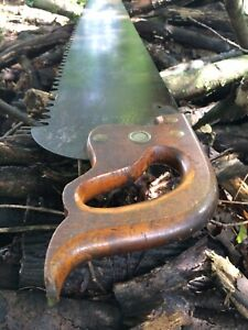 NICE-4FT-Vintage-RICHARDSON-Crosscut-Saw-One-Man-Logging-Hand-Saw-48-034-long