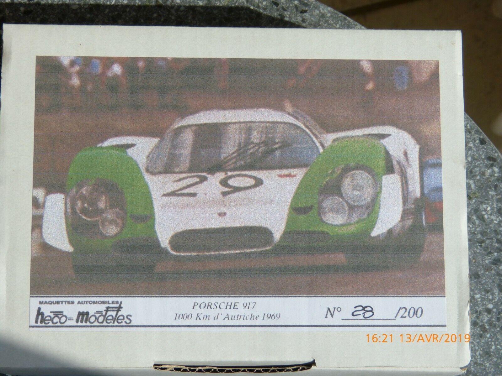 venta con alto descuento Heco Modeles-Porsche Modeles-Porsche Modeles-Porsche 917-1969-1000-Km d'Autriche-1-43 Édition limitée  Venta en línea precio bajo descuento