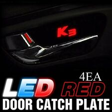 Red LED Inner Door Catch Handle Plate Panel 4EA For KIA 2013-2017 Forte Cerato