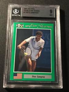 PETE-SAMPRAS-1991-NETPRO-7-TOUR-STAR-TENNIS-ROOKIE-CARD-RC-MINT-BGS-9
