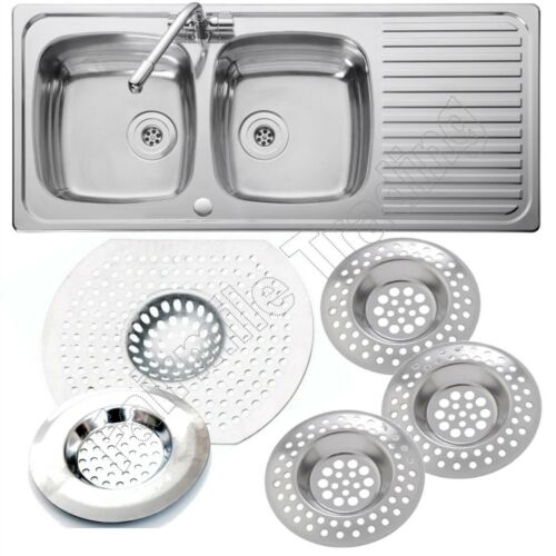 Stainless Steel Sink Strainer Large Small Drain Plug Waste Sieve Food Filter