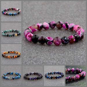 Natural-Lava-Stone-8MM-Colorful-Beads-Hand-Beads-Beaded-Couples-Bracelets-Gift