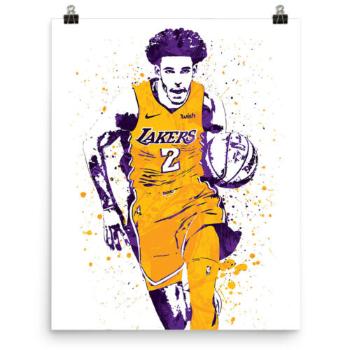 Lonzo Ball Los Angeles Lakers Poster FREE US SHIPPING