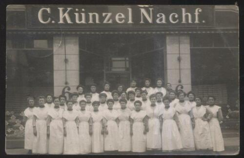 REAL PHOTO POSTCARD MULHEIM GERMANY C. KUNZEL NACHF EMPLOYEES 1941