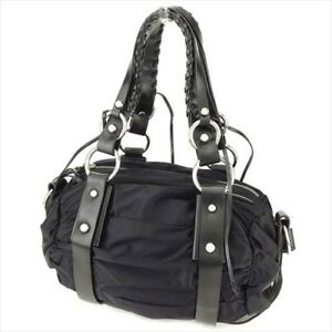 78ff8db2ed70 Image is loading Francesco-Biasia-Bag-Handbag-Black-Nylon-leather-Woman-
