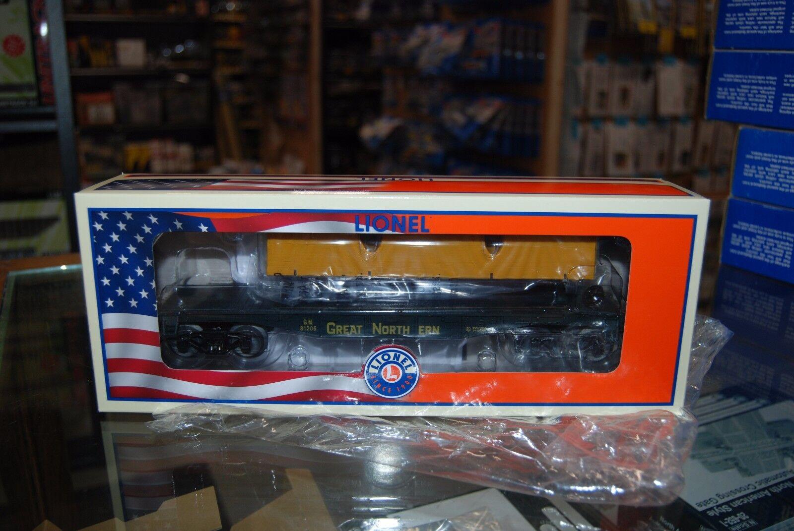 O Lionel 6-81206 * Great Northern Flat car w/Load * NIB