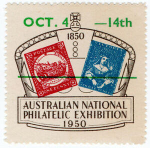 I-B-Australia-Cinderella-National-Philatelic-Exhibition-1950-overprint