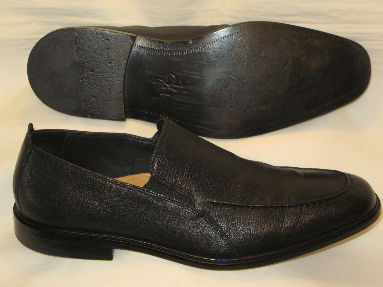 Cole Haan Venetian Loafers USA Mens Sz 12 M Black Leather Dress shoes