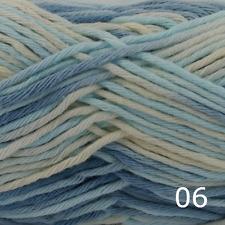Rico Creative Cotton Aran Print Knitting & Crochet Yarn - Light Blue Denim 006