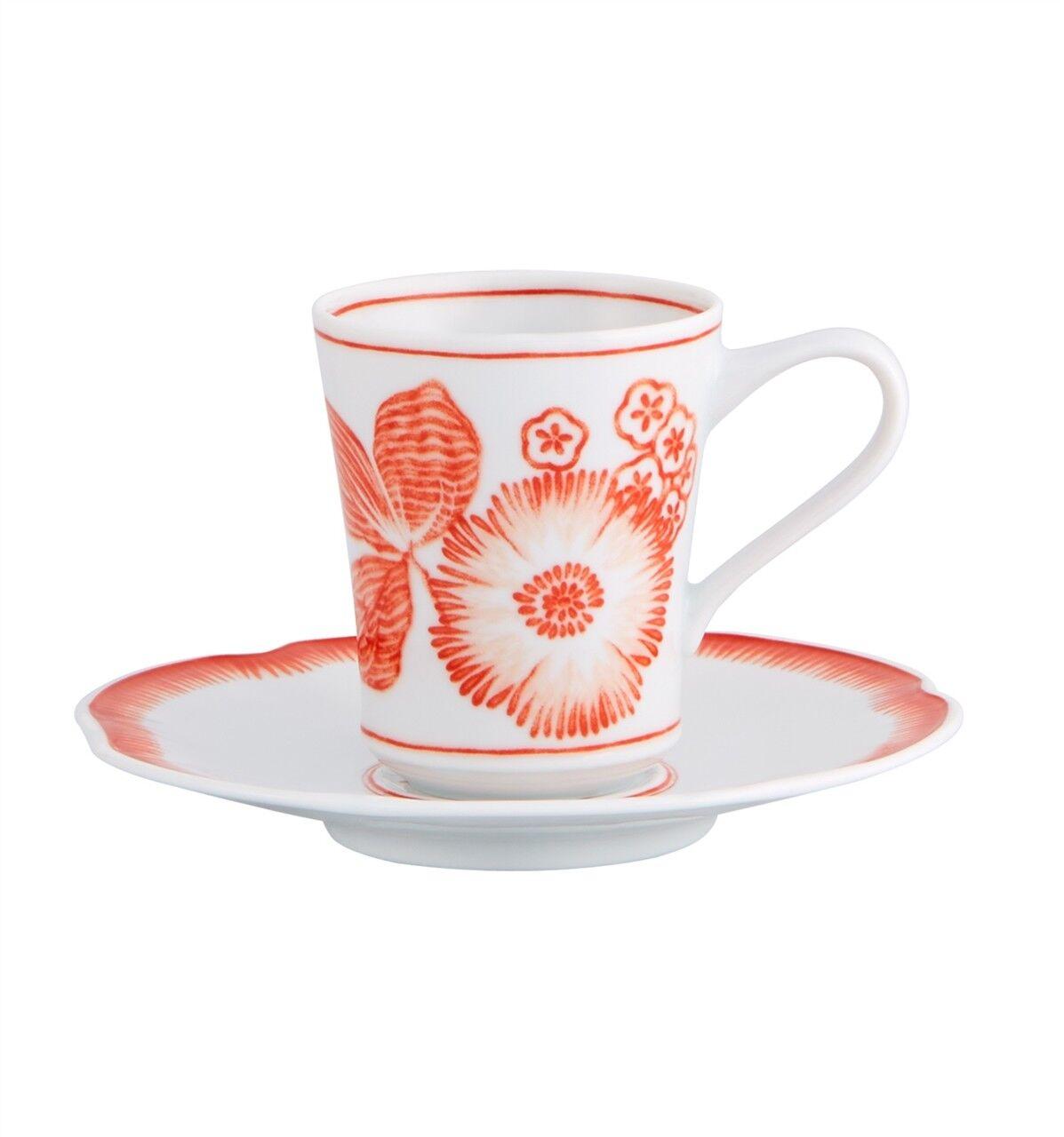 Vista Alegre Coralina Coffee Cup and Saucer - Set of 8