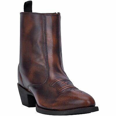 "Laredo 68457 Men/'s Black Harding Leather 12/"" Round Toe Pull On Western Boots"