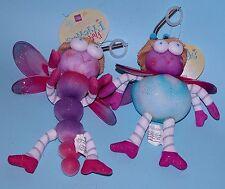 Russ Berrie Fluttering Friends, Summer, dragonfly danglers funny bugs 2 pc. set