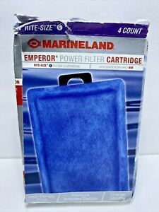 Marineland Emperor Power Filter Cartridge Rite-Size E 4 Count Cartridge FREE SH.
