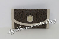 Guess Cologne Slg Large Wallet Checkbook Clutch Taupe