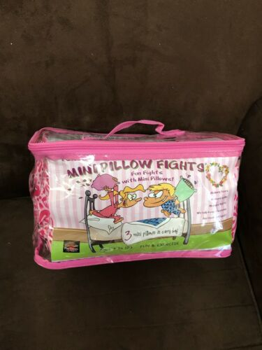 AGES 3 TO 103!!! MINI PILLOW FIGHT PINK HEARTS SLEEPOVER FUN!