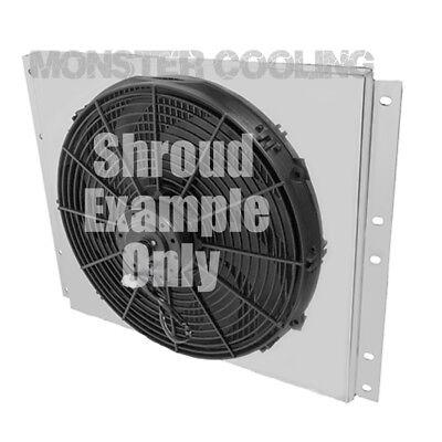 "Chevy C//K Series Trucks Aluminum Radiator Fan Shroud /& 2-14/"" Fans-17/""H x 28 1//4/"""