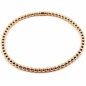 SystéMatique 18k Rose Gold Bracelet, Semirigid, Elastic, 3 Mm Smooth Balls Spheres
