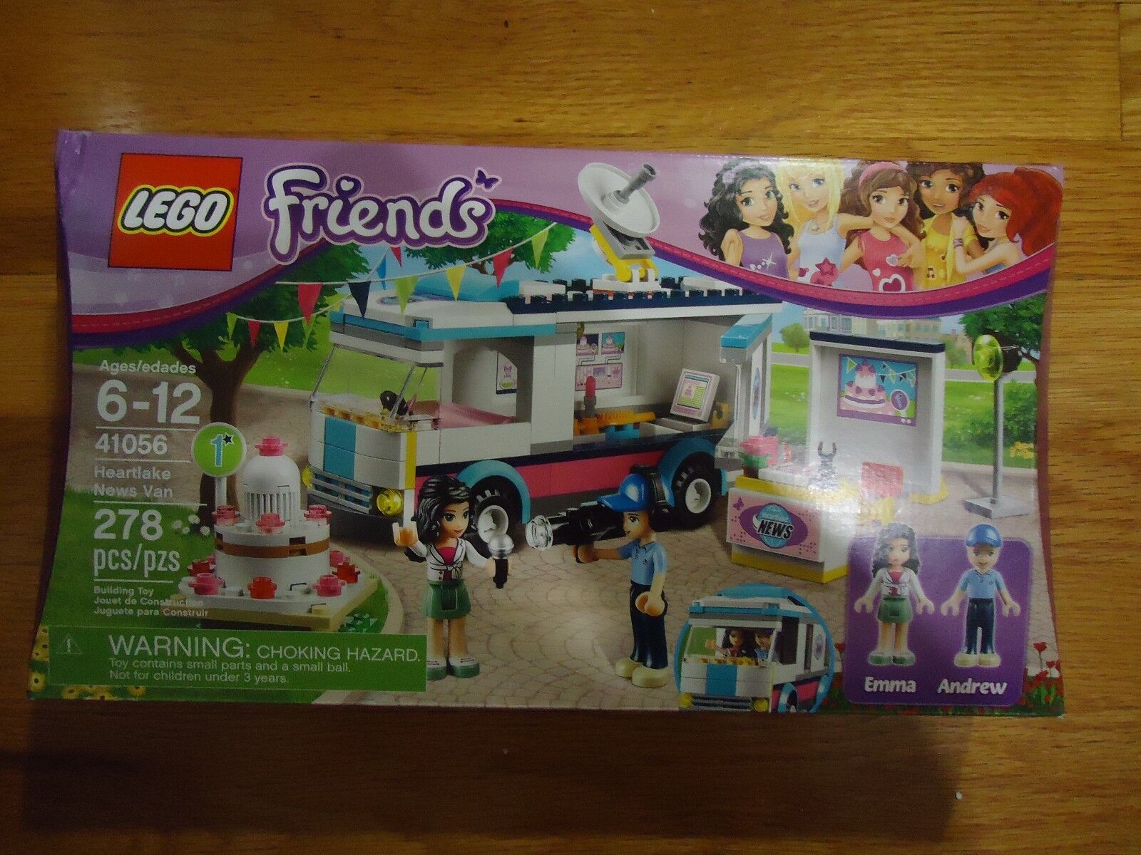 LEGO HEARTLAKE NEWS VAN 41056 Friends Emma Andrew BRAND NEW SEALED