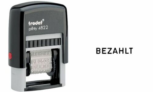 ohne Datum schwarz trodat Wortbandstempel Printy 4822