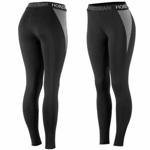 Horze-Madison-Women-039-s-Ventilated-Silicone-Knee-Patch-Riding-Tights
