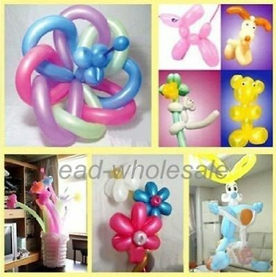 10/100pcs Mixed Randomly  Magic LONG ANIMAL TYING MAKING Twist Latex Balloons