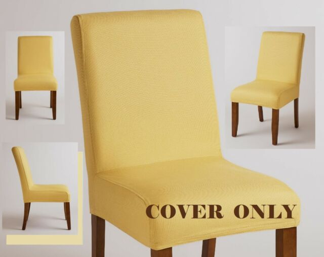 Wondrous World Market Anna Parsons Chair One Cover Only Cotton Yellow Gold Slipcover New Andrewgaddart Wooden Chair Designs For Living Room Andrewgaddartcom