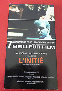 Rare-VHS-French-Movie-L-039-initie-Al-Pacino-Russell-Crowe