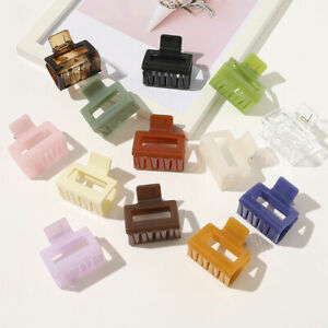 Womens-Simple-Rectangle-Acetate-Acrylic-Geometric-Hair-Clips-Hairpins-Hair-Claw