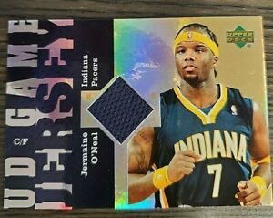 2006-07-UD-Reserve-Game-Jersey-UD-JO-Jermaine-O-039-Neal-Indiana-Pacers-Card