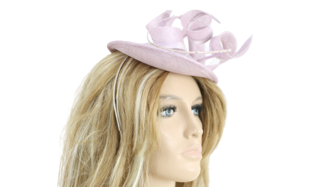 John Charles Mother of the Bride Lilac Bridal Wedding Formal Small Hat 26651 H49